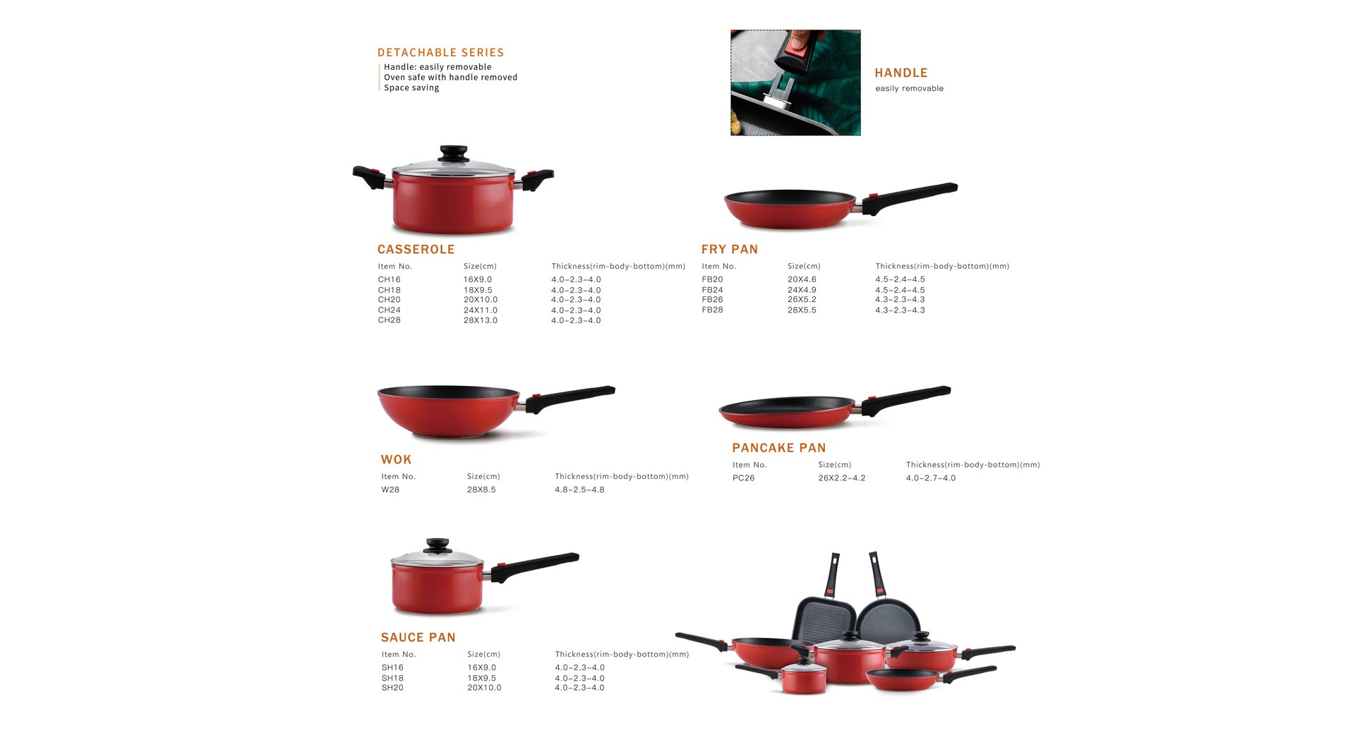 Detachable Series Cookware Set