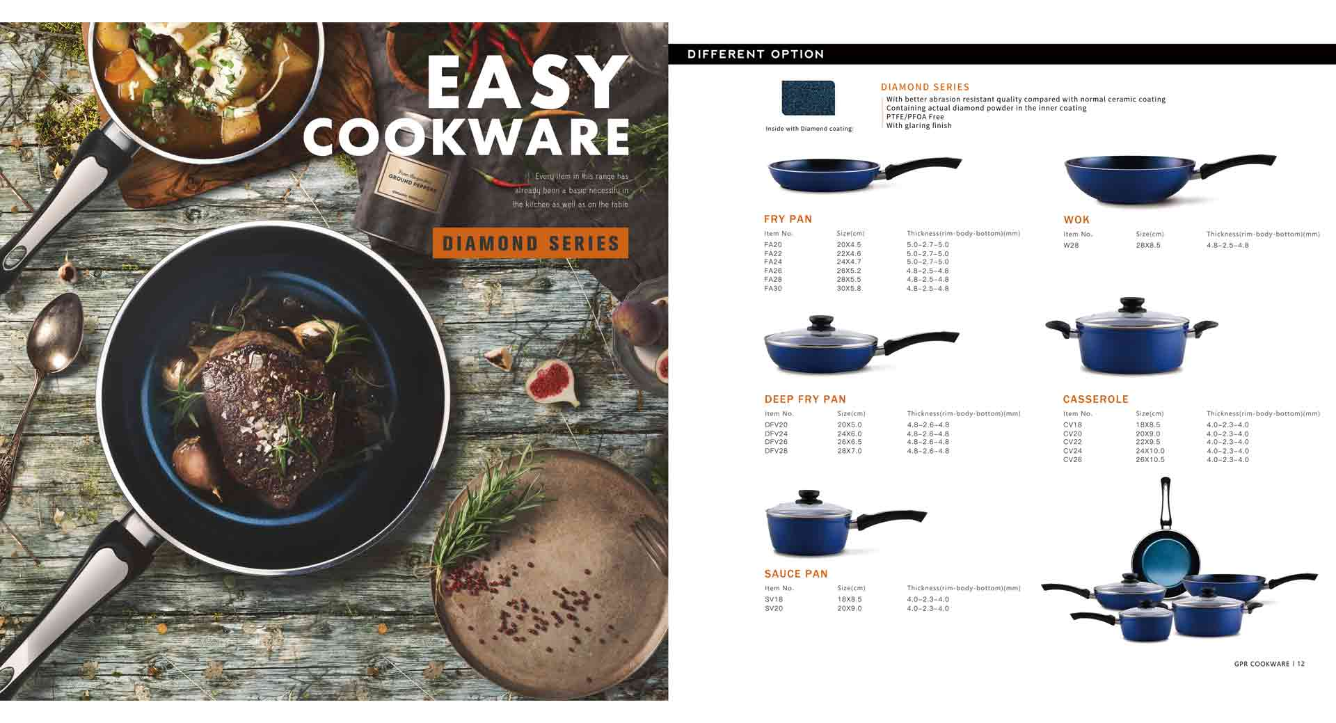 Diamond Series Cookware Set