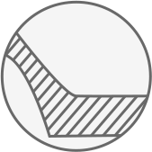 thick rim bottom icon